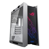 ROG Strix Helios White Edition ROGデザイン 強化ガラス、アルミフレーム搭載 ミドルタワーPCケース