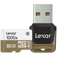 Lexar LSDMI32GCBJPR1000R Professional 1000x microSDHC UHS-II (U3)  USB 3.0リーダー付属:九州・博多・天神近辺でPCをパーツ買うならツクモ福岡店!