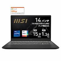 MSI エムエスアイ Summit-B14-A11MOT-200JP [ 14型 / フルHD タッチパネル / i7-1165G7 / 16GB RAM / 512GB SSD / Windows 10 Home / MS Office H&B / インクブラック ] Summit B14 A11 14型液晶ビジネス・クリエイター向けノートパソコン MIL-STD-810G準拠:関西・大阪・なんば・日本橋近辺でPCをパーツ買うならTSUKUMO BTO Lab. ―NAMBA― ツクモなんば店!