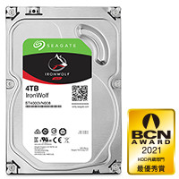 ST4000VN008 IronWolf NAS向け、3.5インチHDD SATA 6Gbps