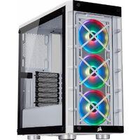 CORSAIR iCUE 465X RGB White CC-9011189-WW iCUE対応、サイドパネルに強化ガラスを採用したATX対応ミドルタワーPCケース:関西・大阪・なんば・日本橋近辺でPCをパーツ買うならTSUKUMO BTO Lab. ―NAMBA― ツクモなんば店!