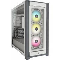CORSAIR  5000X RGB TG WHT (CC-9011213-WW) 右サイド給排気対応、強化ガラス4面搭載ミドルタワーPCケース RGBファン付属モデル:関西・大阪・なんば・日本橋近辺でPCをパーツ買うならツクモ日本橋!