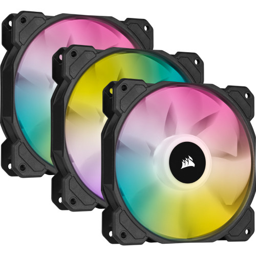 CORSAIR  iCUE SP120 RGB ELITE with iCUE Lighting Node CORE Triple Pack (CO-9050109-WW) ARGB LED搭載 120mm角ファン ファン3個+コントローラセット:関西・大阪・なんば・日本橋近辺でPCをパーツ買うならツクモ日本橋!