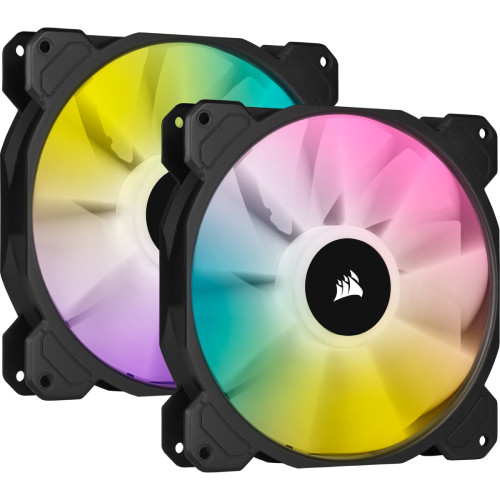 CORSAIR  iCUE SP140 RGB ELITE with iCUE Lighting Node CORE Dual Pack (CO-9050111-WW) ARGB LED搭載 140mm角ファン 2個+コントローラセット:関西・大阪・なんば・日本橋近辺でPCをパーツ買うならツクモ日本橋!