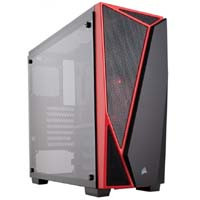 CORSAIR SPEC-04 Tempered Glass Case Black/Red
