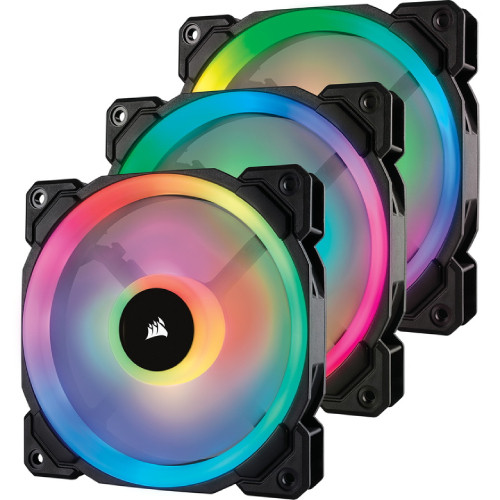 CORSAIR LL120 RGB 3 Fan Pack with Lighting Node PRO (CO-9050072-WW) ファン3個とLighting Node PROをセットにした標準モデル:関西・大阪・なんば・日本橋近辺でPCをパーツ買うならTSUKUMO BTO Lab. ―NAMBA― ツクモなんば店!