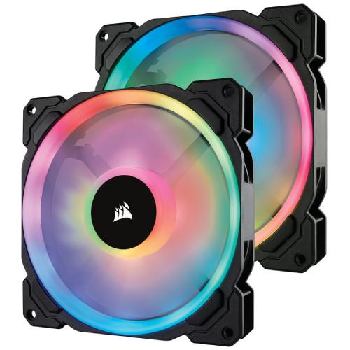 CORSAIR LL140 RGB 2 Fan Pack with Lighting Node PRO (CO-9050074-WW) ファン2個とLighting Node PROをセットにした標準モデル:関西・大阪・なんば・日本橋近辺でPCをパーツ買うならTSUKUMO BTO Lab. ―NAMBA― ツクモなんば店!