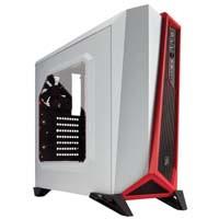 CORSAIR SPEC-ALPHA CC-9011083-WW (White/Red) 高い冷却性能を備えたATX対応ゲーミングミドルタワーPCケース:九州・博多・天神近辺でPCをパーツ買うならツクモ福岡店!