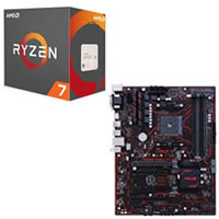 AMD Ryzen 7 1800X とマザーボードのセット