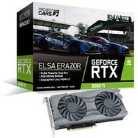 ELSA GeForce RTX 3060 Ti ERAZOR LHR GD3060T-8GEREZH GeForce RTX3060 Ti搭載グラフィックボード LHR版:博多・福岡・九州近辺でPCをパーツ買うならツクモ博多店!