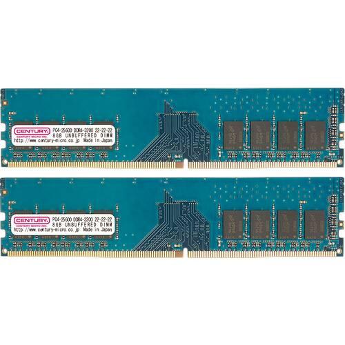 センチュリーマイクロ CK8GX2-D4U3200H/SP DDR4-3200/PC4-25600 288-pin DIMM 16GB(8GBx2):関西・大阪・なんば・日本橋近辺でPCをパーツ買うならTSUKUMO BTO Lab. ―NAMBA― ツクモなんば店!