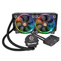 Thermaltake Water 3.0 Riing RGB 240 (CL-W107-PL12SW-A) 256色発光に対応したファン搭載の水冷一体型CPUクーラー:九州・博多・天神近辺でPCをパーツ買うならツクモ福岡店!