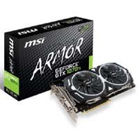 GeForce GTX 1070Ti ARMOR 8G OC Pascalコアを採用の新型高コストパフォーマンス、ハイスペックビデオカード!