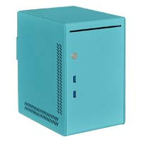 Qbee (Q02Lite-MINT BLUE) Mini-ITX専用小型PCケース