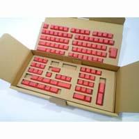 REALFORCE 108専用 キートップセット(赤) SA0100KT3 《送料無料》