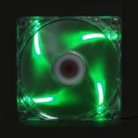IRO-KAZE 色風 MIDORI-KAZE12 グリーン 12cmLEDファン