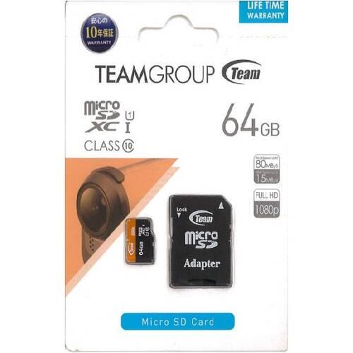 TFXC064UHS01TG 大容量64GBのClass10対応 microSDXC UHS-I U1対応メモリーカード