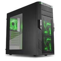 T28 Ver.3 (ブラック+インナーグリーン) (SHA-T28-G-V3) 2.5インチ/3.5インチディスクホルダー4基搭載 ミドルタワーケース