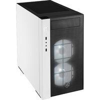 SilverStone SST-RL08BW-RGB (ブラック&ホワイト+RGB ファン+強化ガラス)