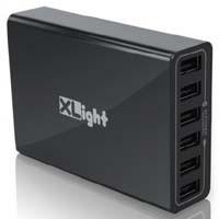 XLight XA-M6-K (ブラック) AI Power搭載 AC 6USBポート 充電器:九州・博多・天神近辺でPCをパーツ買うならツクモ福岡店!