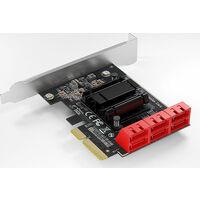AREA V6 NA (SD-PE4SA-6L) PCI-Express x4接続 SATA3 x 6ポート増設ボード:関西・大阪・なんば・日本橋近辺でPCをパーツ買うならツクモ日本橋!