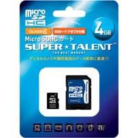 ST04MSC4A 大きな容量は必要ないという方にオススメ!4GB MicroSDHCカード!