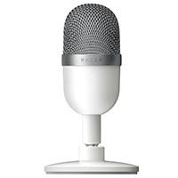 Razer レイザー Seiren Mini - Mercury White (RZ19-03450300-R3M1) USB接続式 コンパクト設計 スタンドマイク:関西・大阪・なんば・日本橋近辺でPCをパーツ買うならツクモ日本橋!