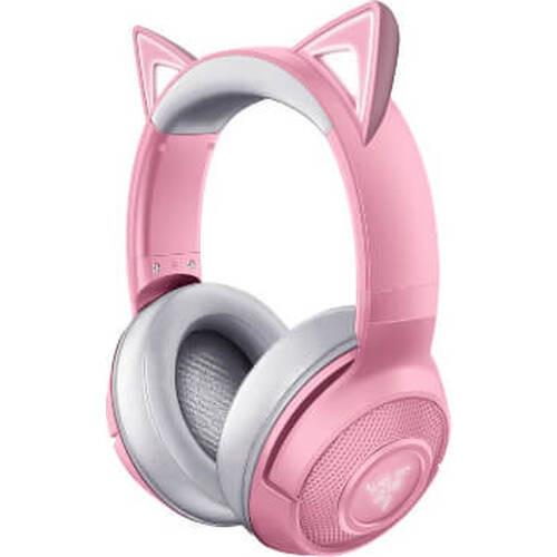 Razer レイザー Kraken BT Kitty Edition - Quartz Pink (RZ04-03520100-R3M1) Bluetooth接続 キャットスタイル ワイヤレス ヘッドセット:関西・大阪・なんば・日本橋近辺でPCをパーツ買うならツクモ日本橋!