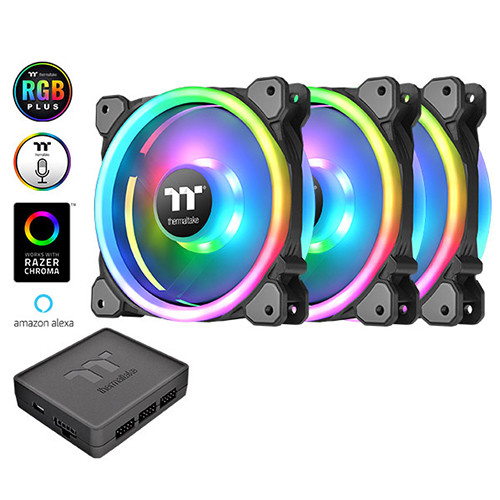 Riing Trio PLUS 14 RGB 3Pack CL-F077-PL14SW-A(3個パック) 《送料無料》