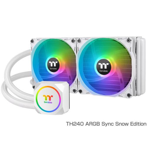 Thermaltake サーマルテイク TH240 ARGB Sync Snow Edition アドレサブルRGB LEDを搭載する水冷一体型CPUクーラー:関西・大阪・なんば・日本橋近辺でPCをパーツ買うならツクモ日本橋!