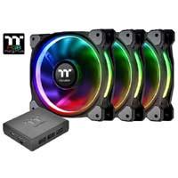 Thermaltake Riing Plus 14 RGB Radiator Fan TT Premium Edition CL-F056-PL14SW-A(3個パック) 1680万色カラーに対応する、ラジエター向け140mm LEDファンキット:九州・博多・天神近辺でPCをパーツ買うならツクモ福岡店!