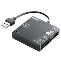 ELECOM modelsconstructed USB2.0 compatible XD SD MS CF black MR-A004BK