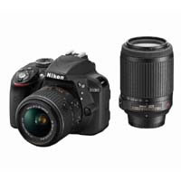 D3300 double zoom Kit (black) D3300 WKITBK