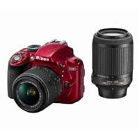 D3300 D3300 double zoom Kit (red) WKITRD