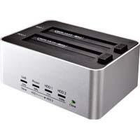 KURO-DACHI/CLONE/U3 パソコンなしでまるごとコピー!簡単取り付け&取り外しの、HDD/SSDスタンド