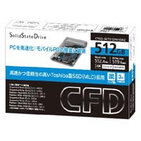 CFD販売 CSSD-S6T512NHG6Z Toshiba製SSD 2.5インチ SATA 6.0Gb/s インターフェース対応 MLC:九州・博多・天神近辺でPCをパーツ買うならツクモ福岡店!