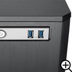 最新のUSB3.0対応ポートを2個搭載