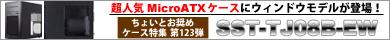 第123弾  超人気MicroATXケースにウィンドウモデルが登場!「SST-TJ08B-EW」特集