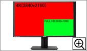 フルHDと4K解像度比較図1