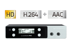 H.264,HD画質でライブ配信