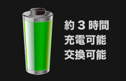 取替え可能な充電式バッテリー