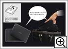 収納式チルトスタンド&専用液晶保護カバー付属