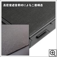 高密度遮音素材による二層構造