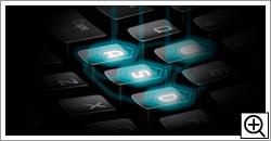 キーごとにLED発光パターンを変更可能