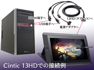 Cintic 13HD接続例