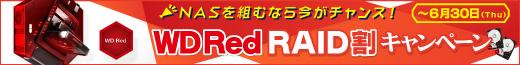 NASを組むなら今がチャンス!WD Red RAID割キャンペーン
