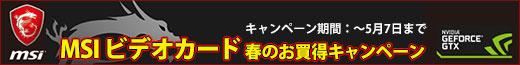 MSIビデオカード 春のお買得キャンペーン!