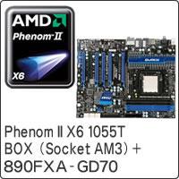 【クリックで詳細表示】Phenom II X6 1055T BOX (Socket AM3) + 890FXA-GD70 セット