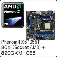 【クリックで詳細表示】Phenom II X6 1055T BOX (Socket AM3) + 890GXM-G65 セット